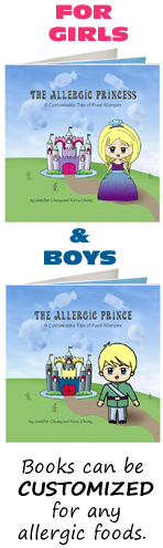 food allergy book kids customizable