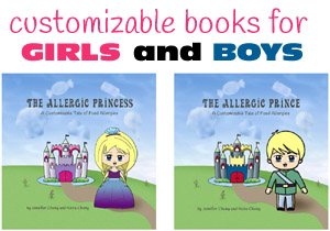 food allergy books customizable
