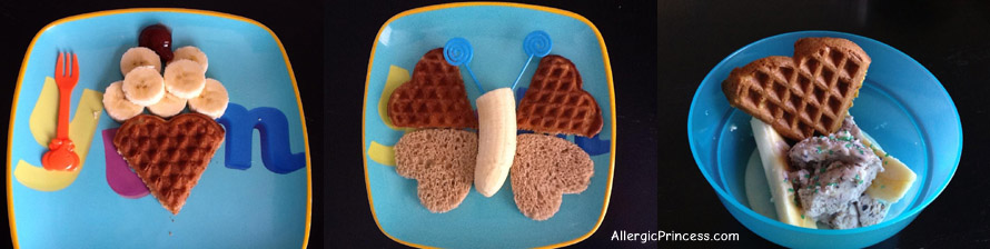 dairy free waffle hearts