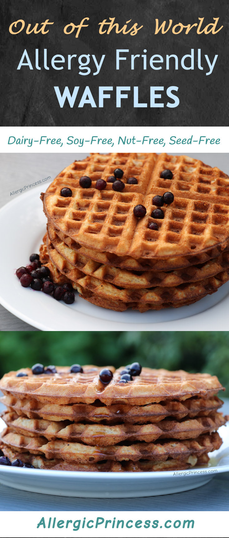 Allergy friendly waffles, dairy free, nut free, soy free, seed free