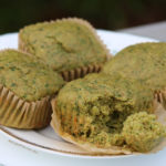 green spinach muffins dairy free