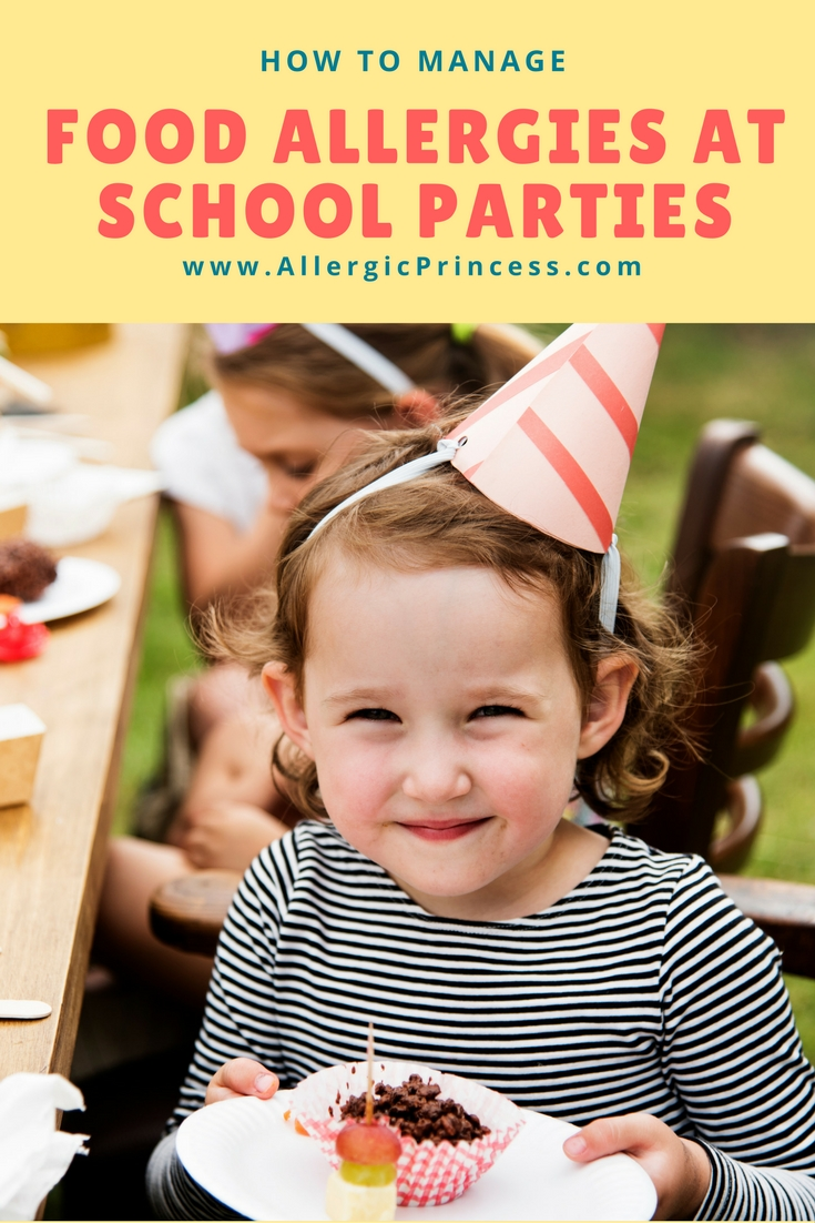 How to manage food allergies at school parties.