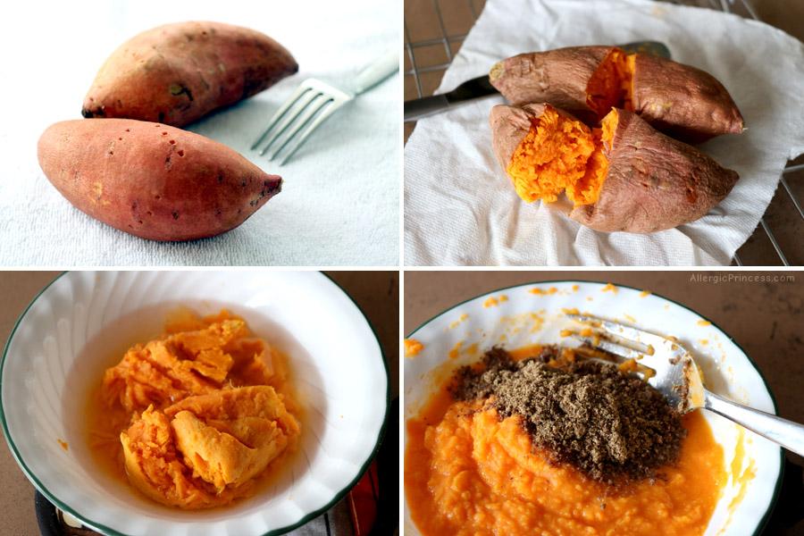 breakfast sweet potato porridge