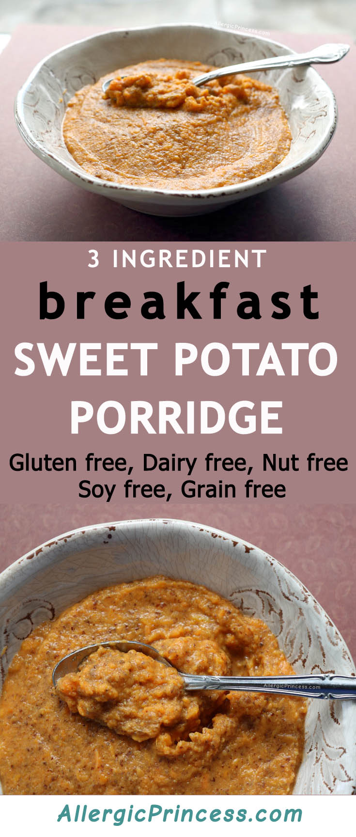 Delicious alternative to oatmeal. Sweet potato porridge with flaxseed packs a nutritional punch for breakfast!
