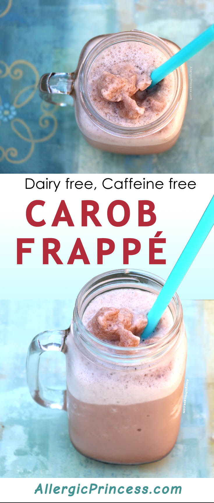 Carob Frappé is a delightfully refreshing drink that is a great caffeine free alternative to coffee frappé.