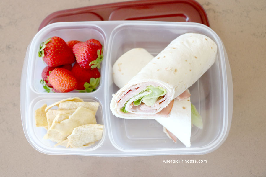 Ham, Lettuce, and Hummus Tortilla Roll Ups