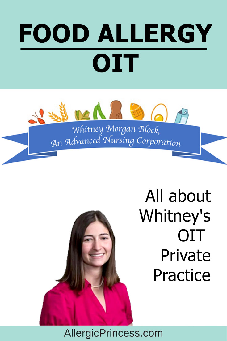 Food Allergy OIT private practice in the SF Bay Area from Whitney Morgan Block.