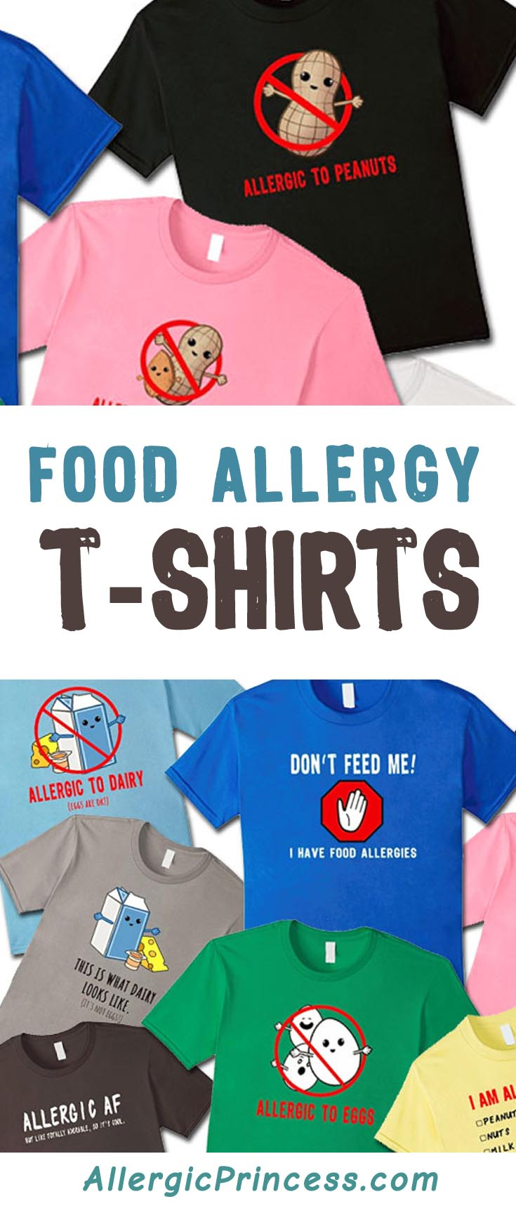 The BEST way to keep your child safe from his allergic foods is to wear a food allergy t-shirt that spells it out loud and clear.