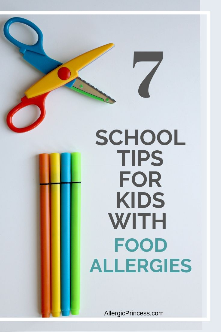 school tips for kids with food allergies