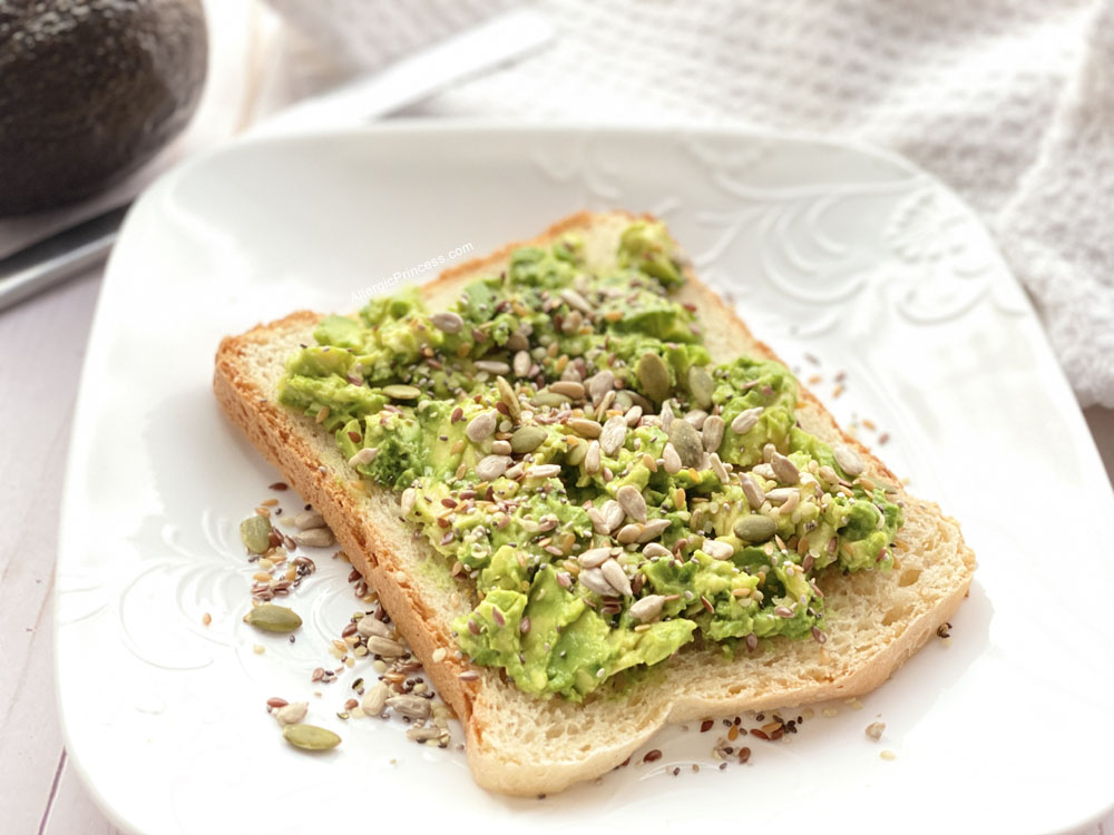 Avocado Toast with Gerbs Super 7 Seed Mix