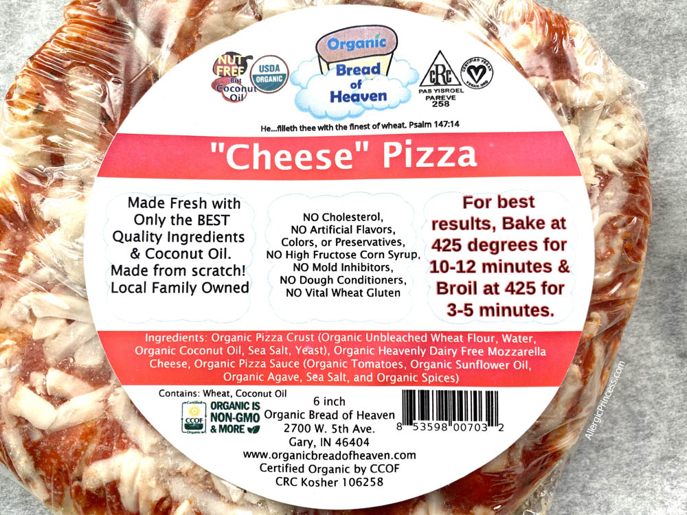dairy-free cheese pizza