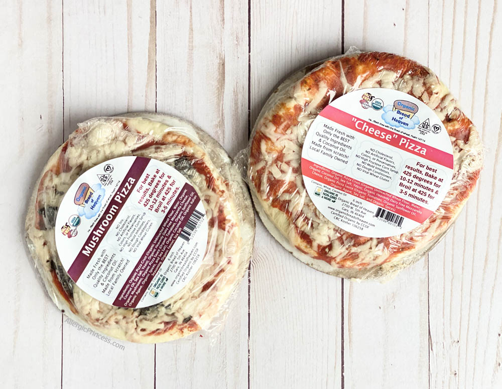dairy-free pizza from Organic Bread of Heaven