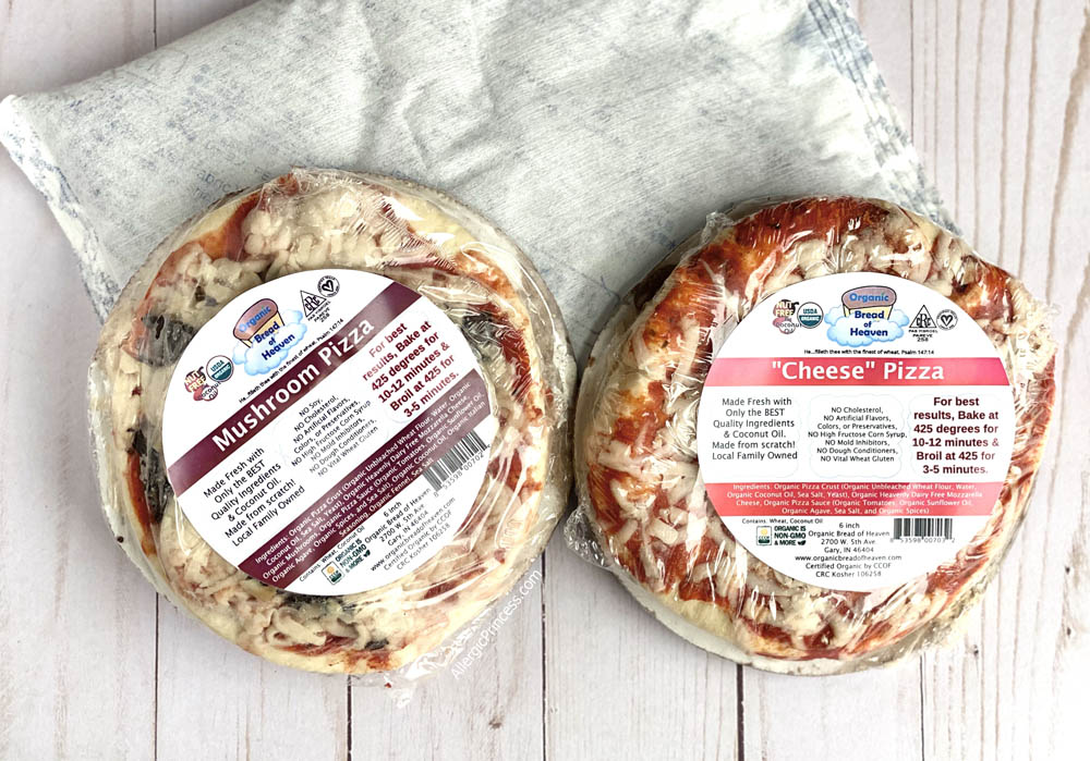 pizzas with ice pack