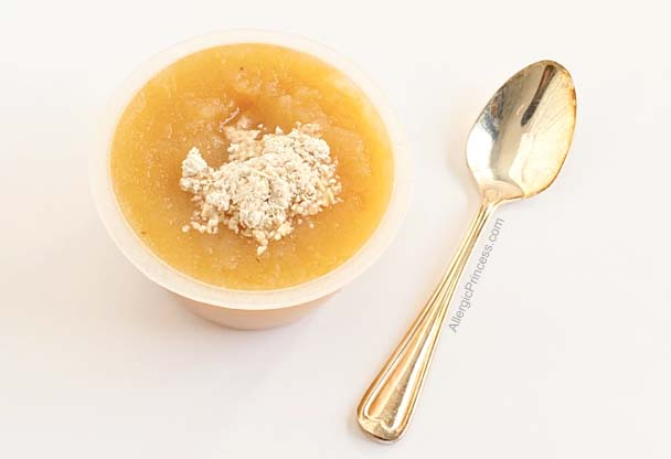 food allergy OIT dose in applesauce