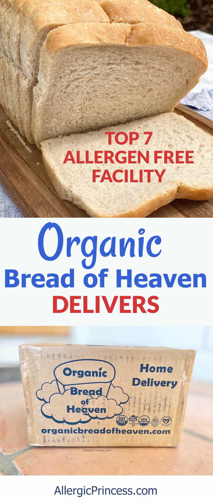 Organic Bread of Heaven Bakery delivers Top 7 allergy free breads