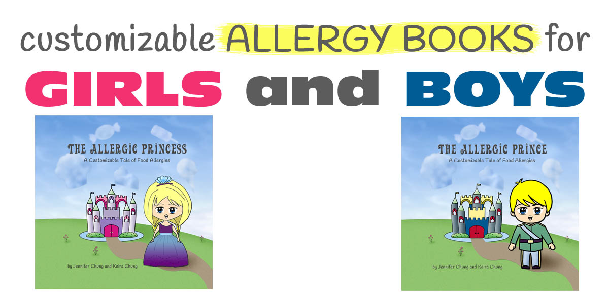 customizable allergy book kids