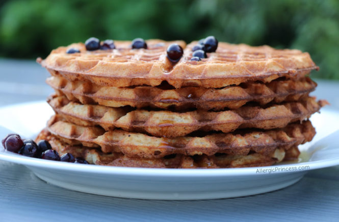 allergy friendly waffles, dairy free, soy free, nut free, seed free