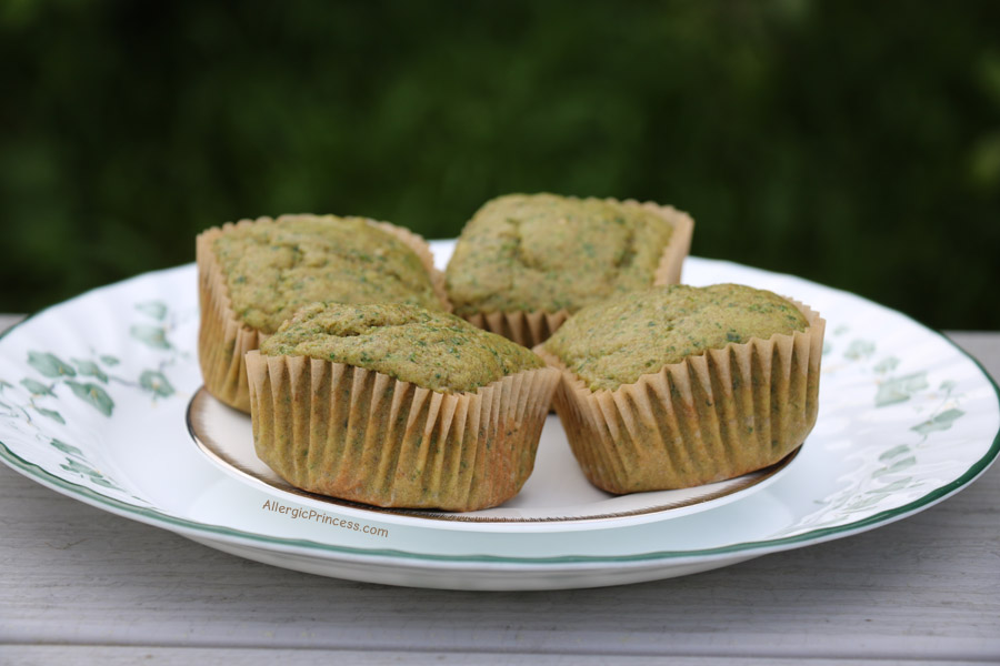 SWEET GREEN SPINACH MUFFINS (DAIRY FREE)