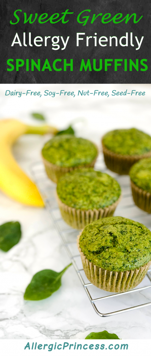 sweet green spinach muffins dairy-free