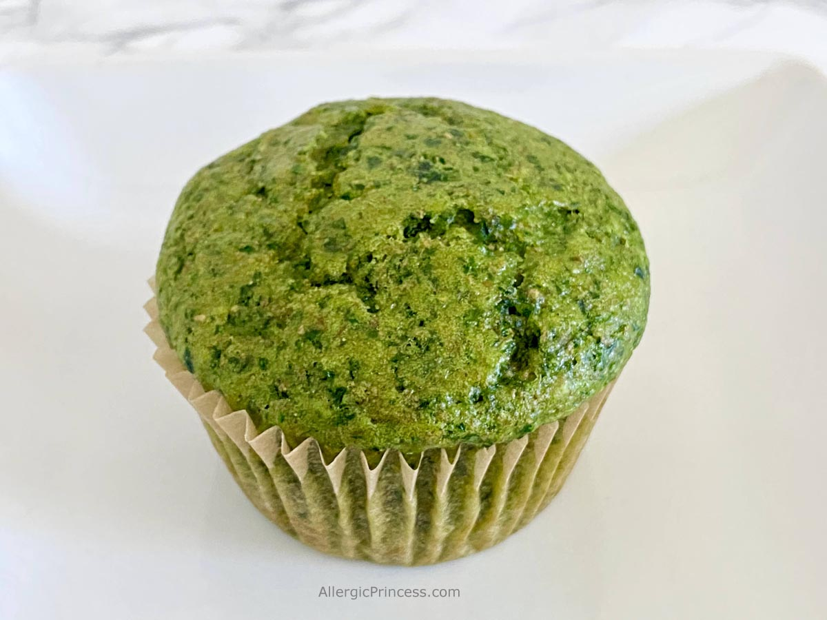 sweet green spinach muffins