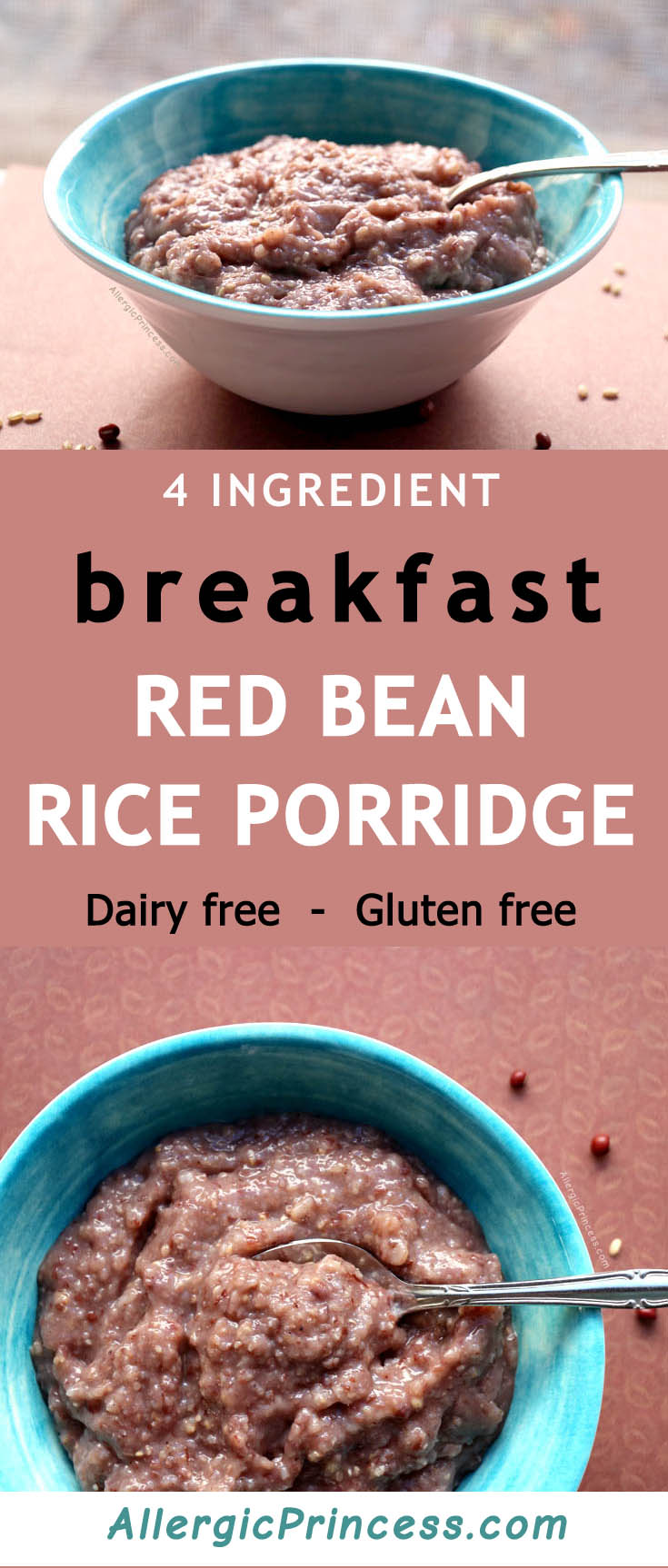 A great oatmeal alternative, this protein filled red bean rice porridge is delicious!