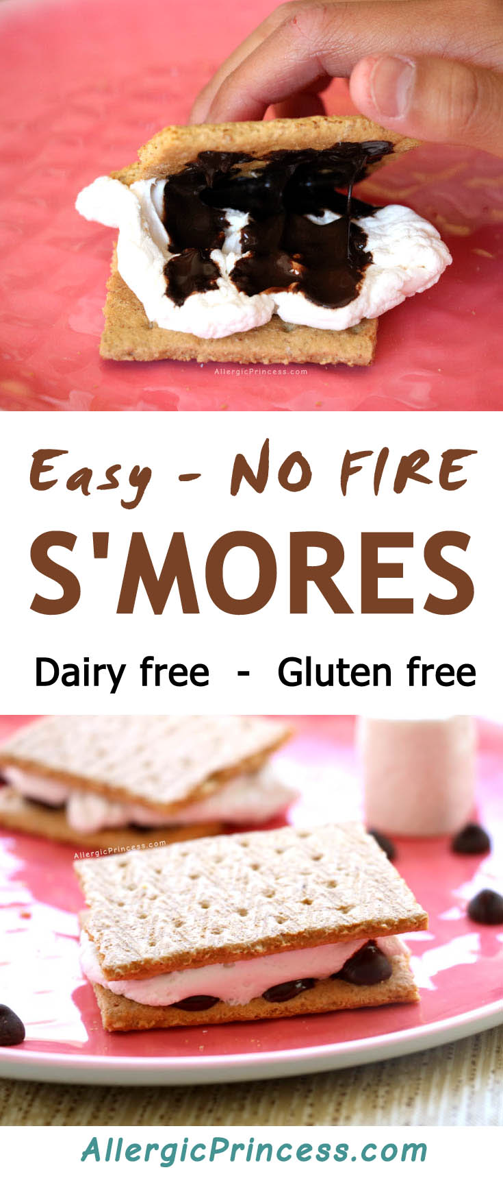 A lazy way to make dairy free s'mores anytime of the year using your microwave or toaster oven.