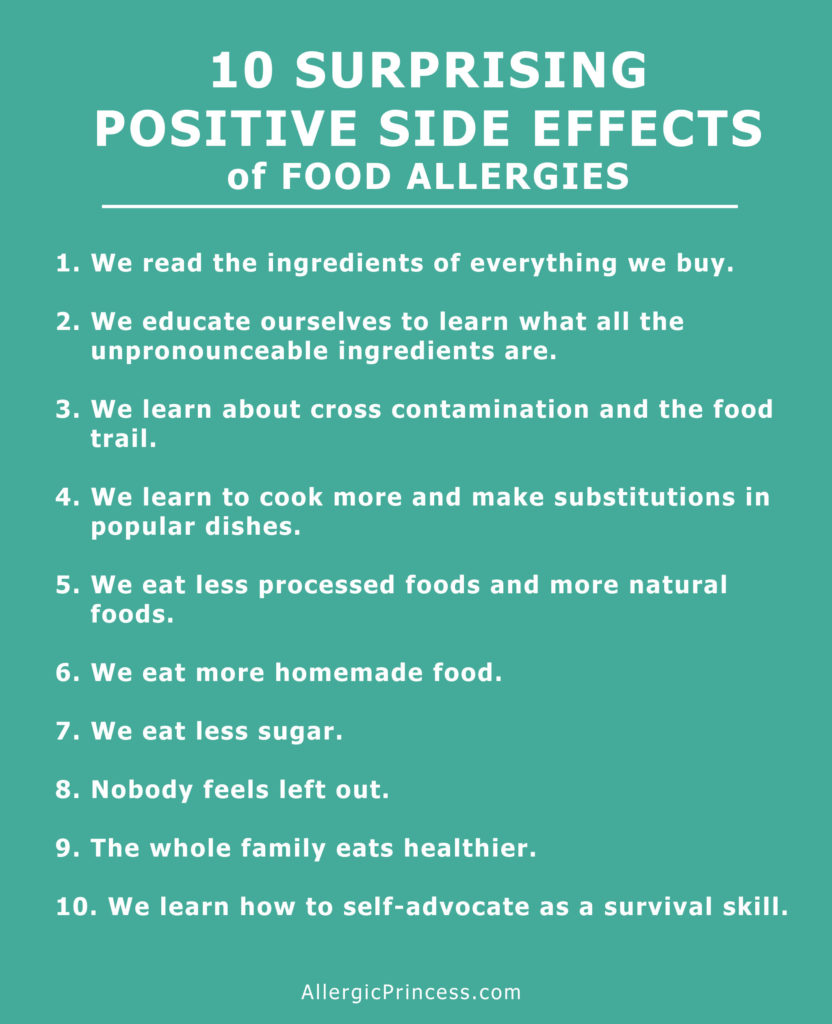 Surprising positive side effects of having food allergies.