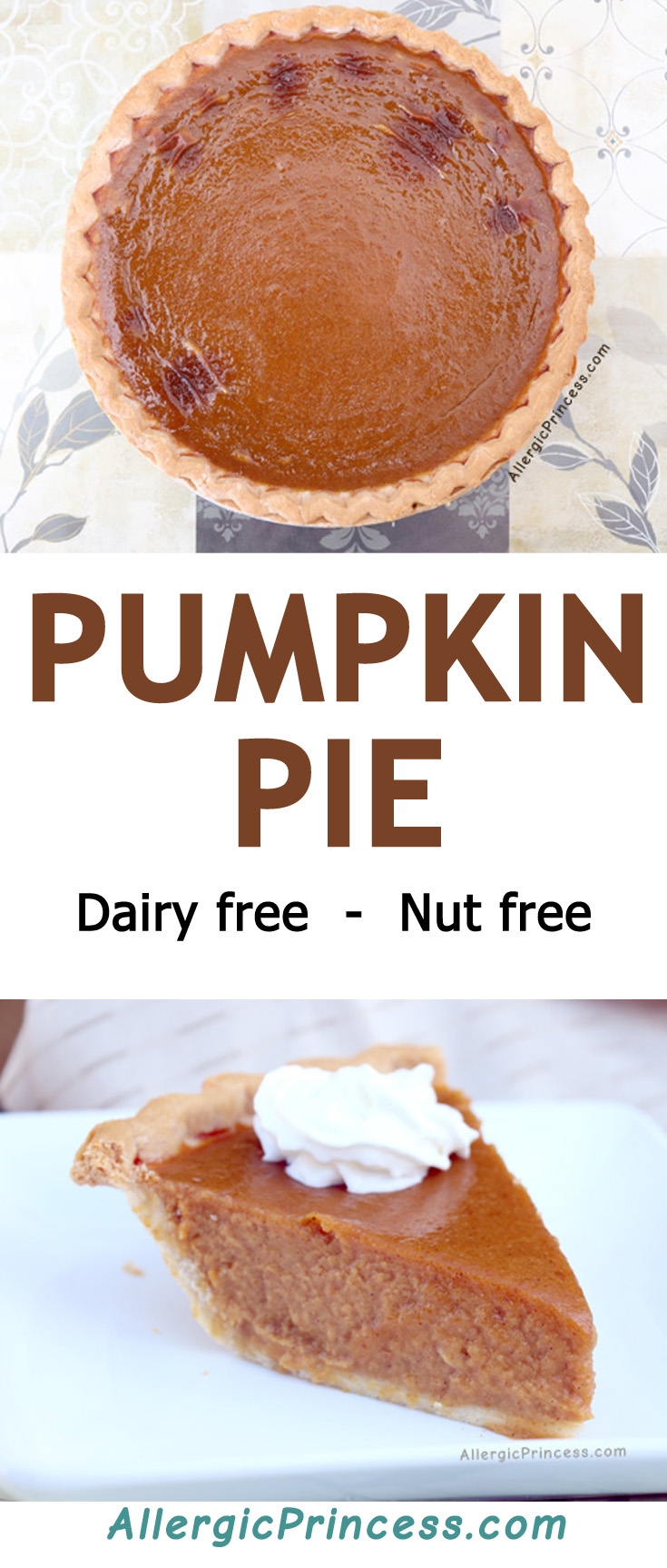 A dairy free, nut free mouth-watering pumpkin pie will really hit the spot!
