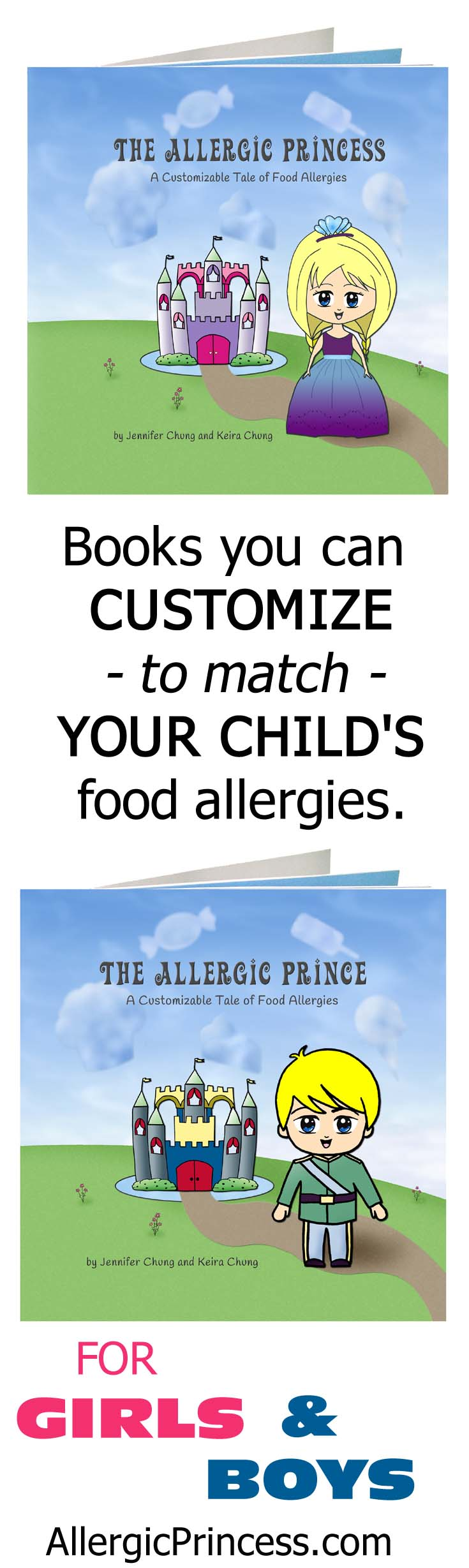 customizable kids food allergy book