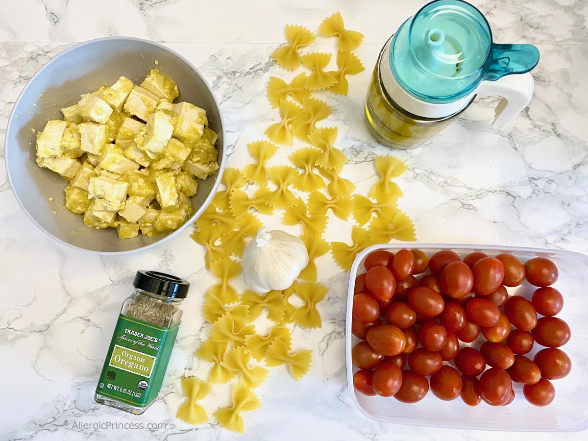 vegan baked feta pasta