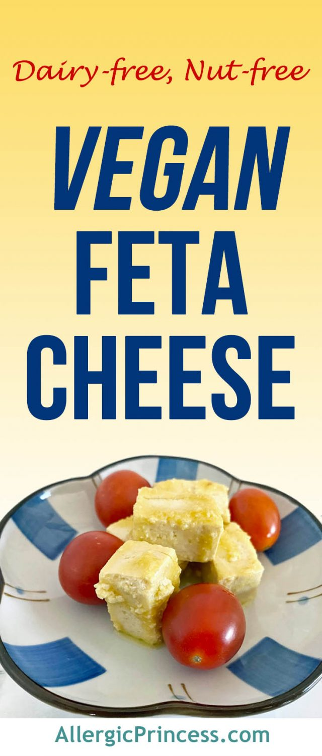 Easily create a nut-free vegan feta cheese from tofu that is similar in taste and texture to real feta.