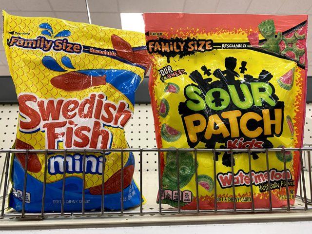 swedish fish sour patch gummies